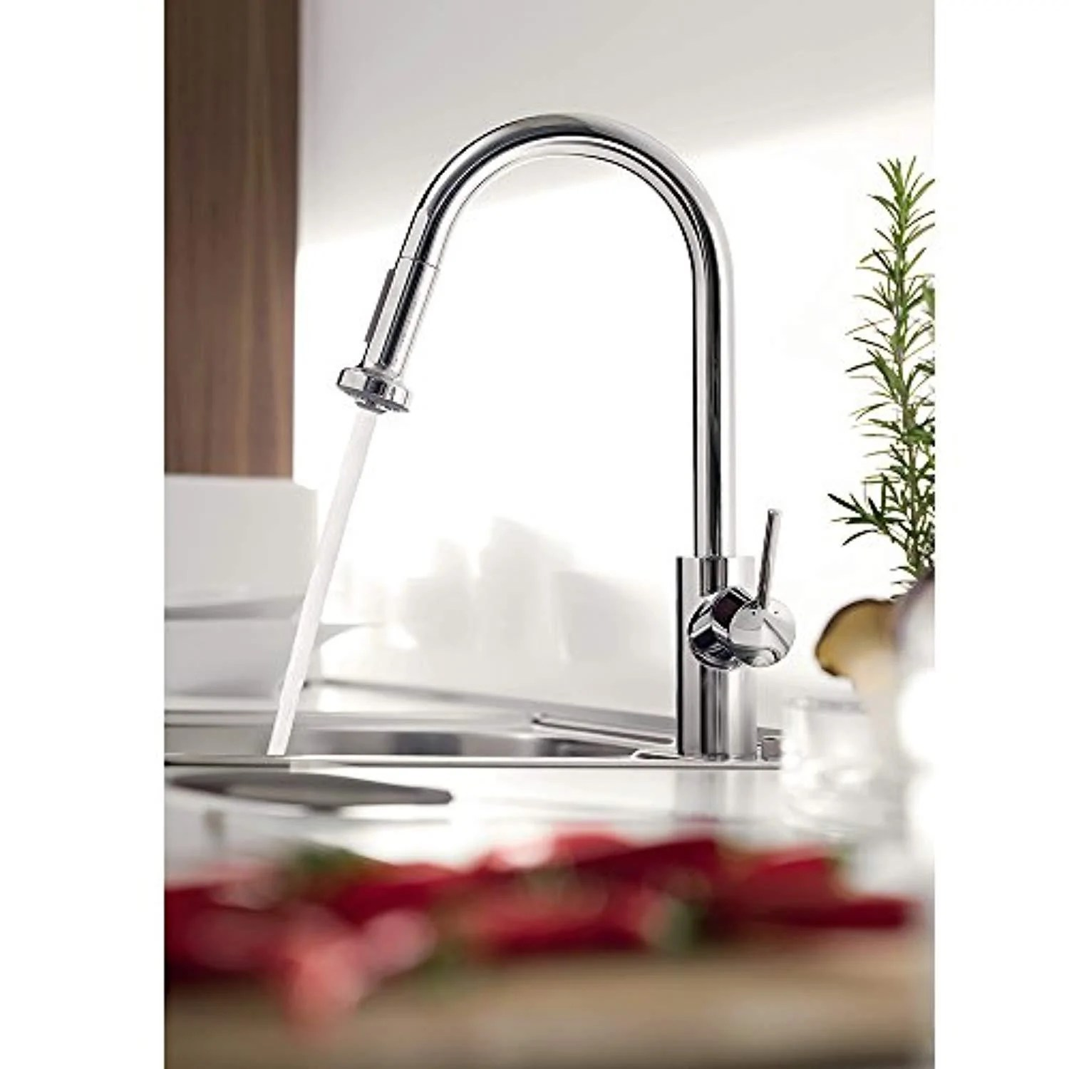 hansgrohe talis s 2 spray higharc kitchen faucet w pull down 1 75 gpm 14877001 chrome