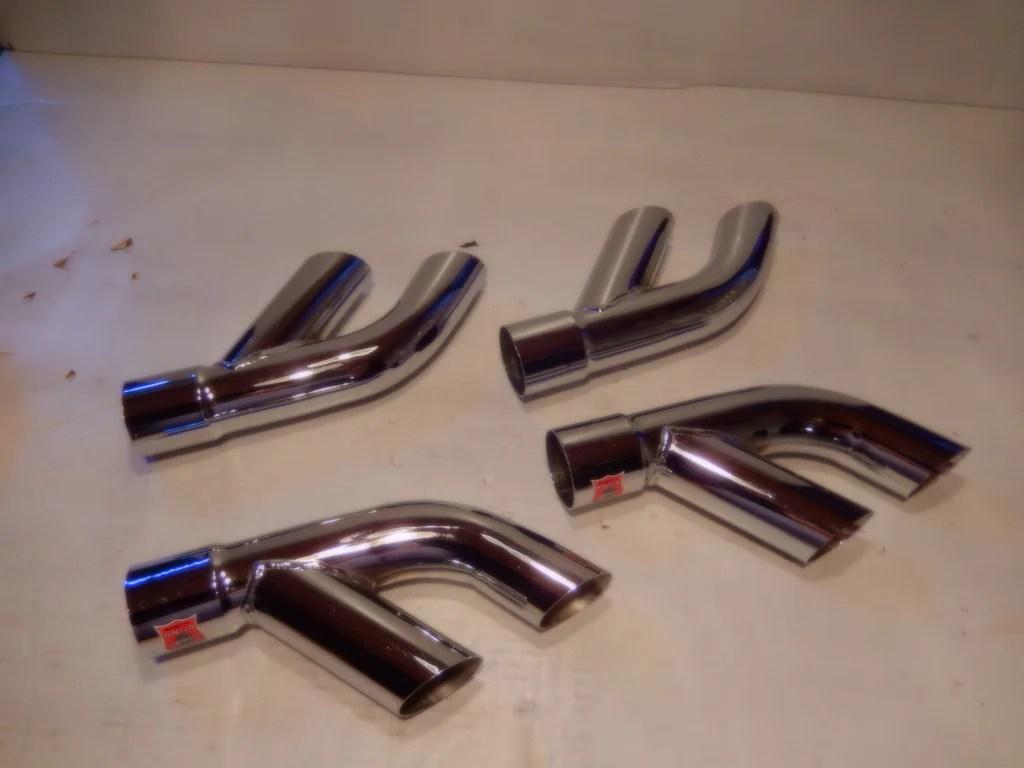 ansa oem vintage set of four side pipe tips