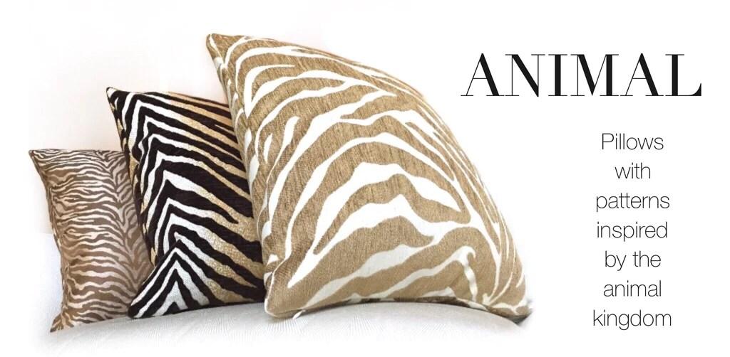 animal print pillows by aloriam