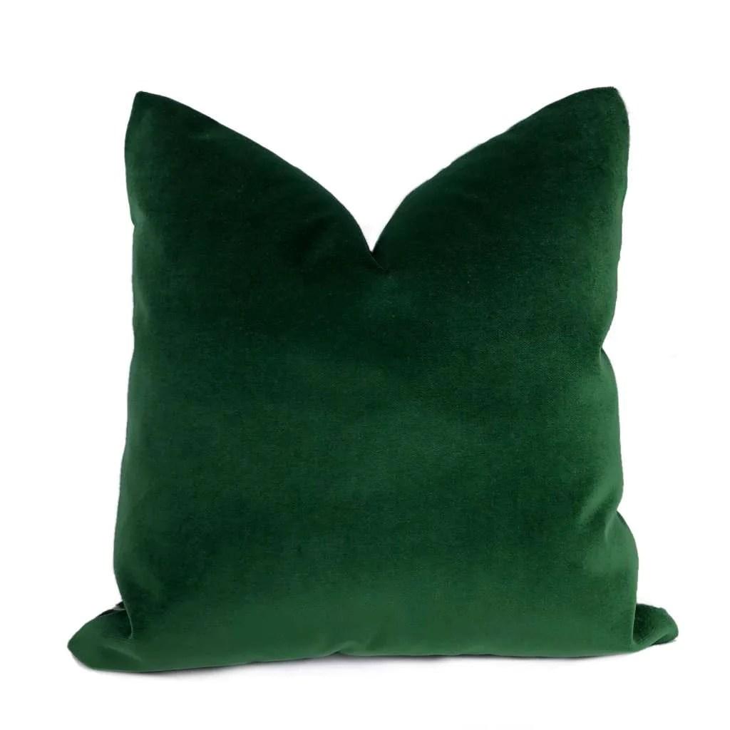brixton green pine cotton velvet pillow cover
