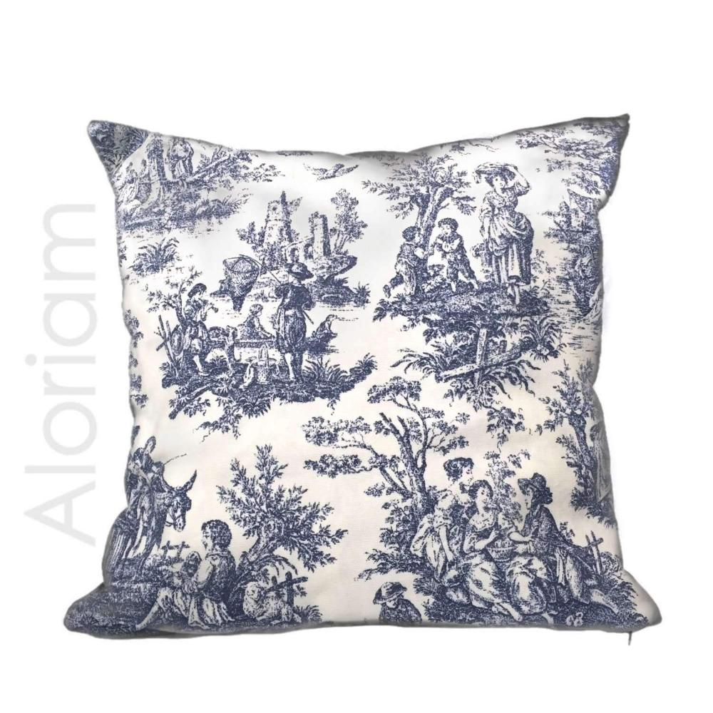 blue and white throw pillow covers online