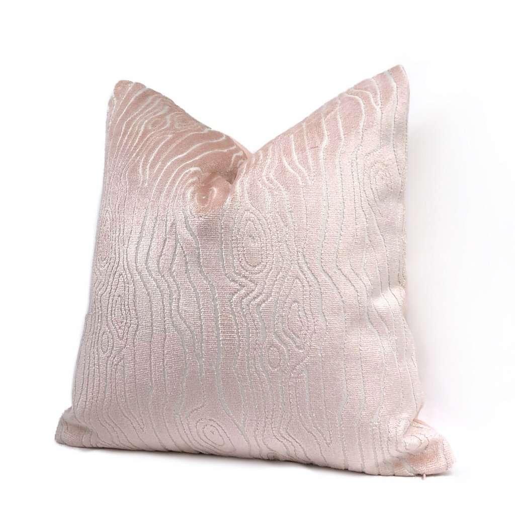 https www aloriam com products tobi fairley rivers light pink faux bois woodgrain cut velvet pillow cover