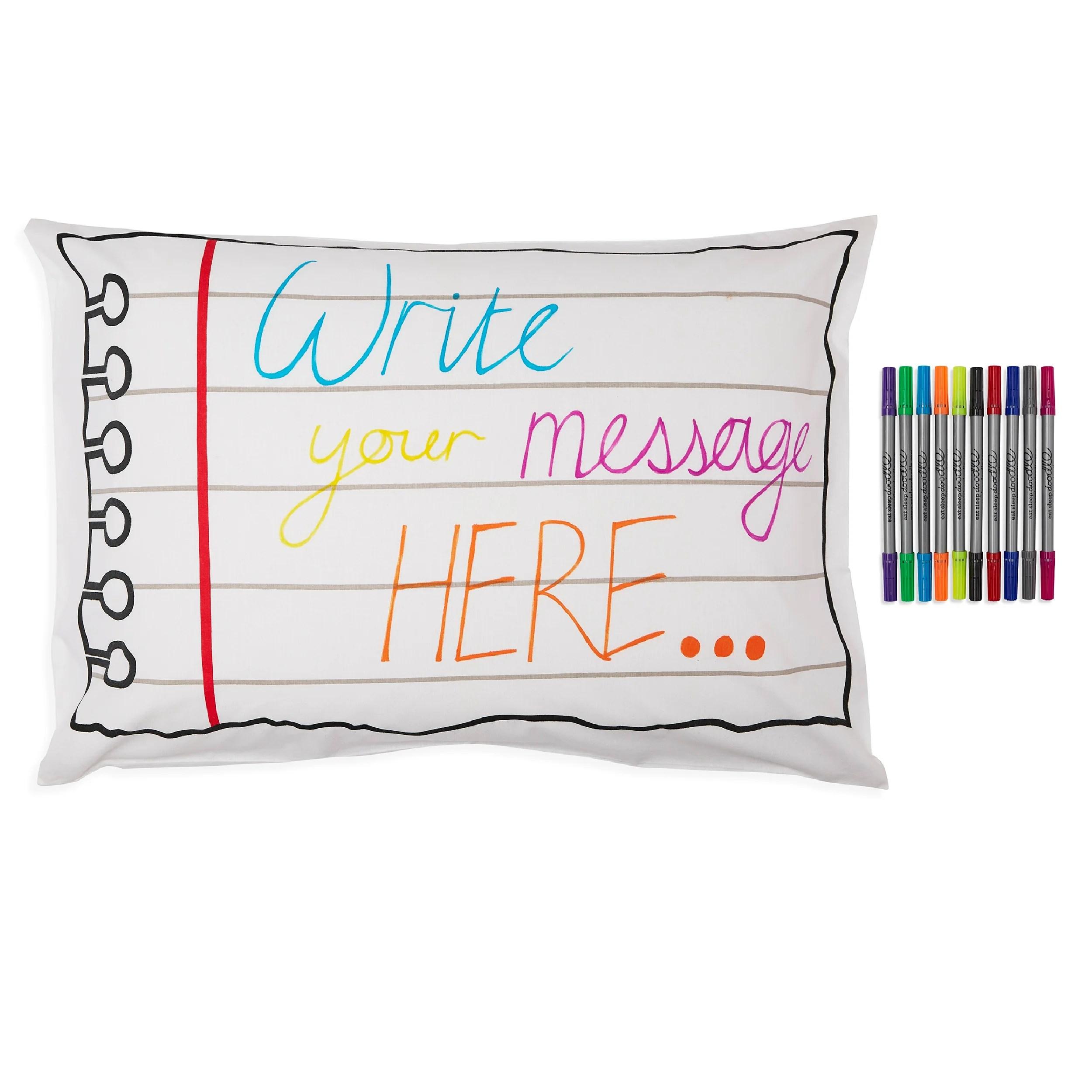 doodle notebook pillowcase color in design