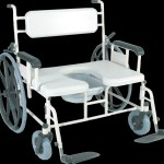 Convaquip Bariatric Shower Commode Transport Chair Model 1324p 24