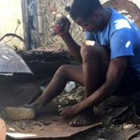 Metal Artisan in Haiti
