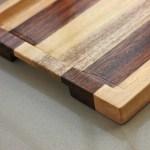 Birch Walnut Striped Wooden Tray Kitchen Accessories Serving Tray Woodgeekstore