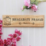 Auspicious Name Plates Wooden Name Board House Nameplates With Address