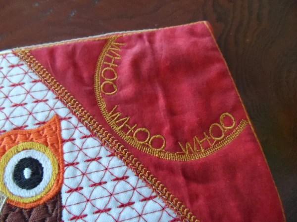 Whimsical Owl Mug MatMug Rug In The Hoop Embroidery