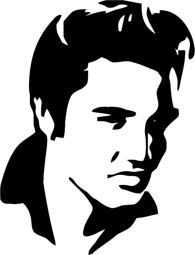 Elvis Presley Black And White Stencil