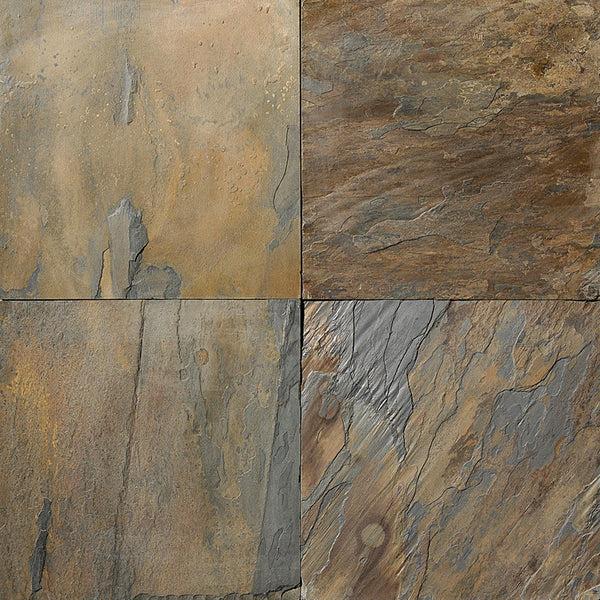 California Gold Gauged Slate TIle Sognare Tile Stone