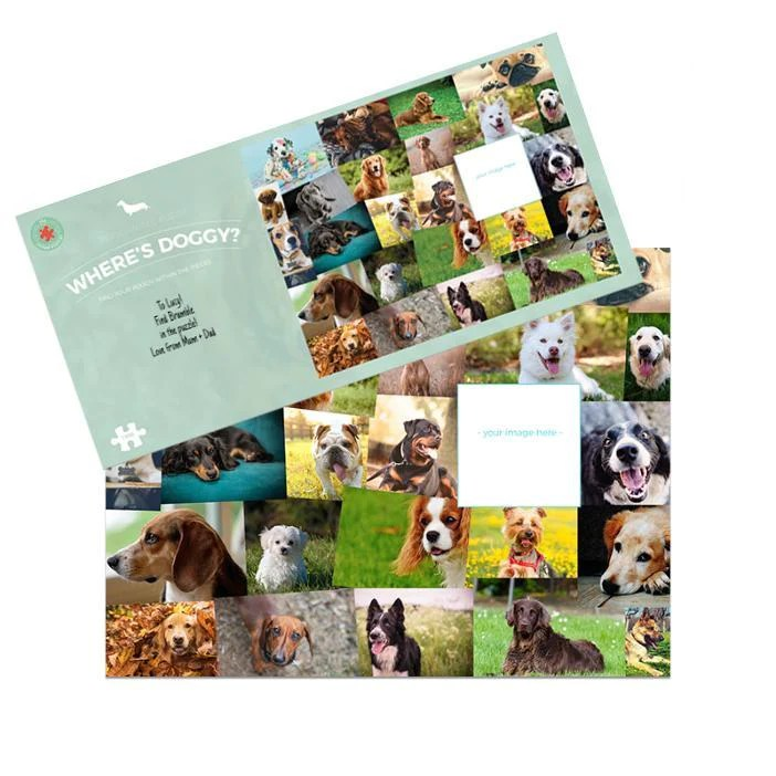 NEW! Where's Doggy? 1000 Piece Personalised Jigsaw Puzzle
