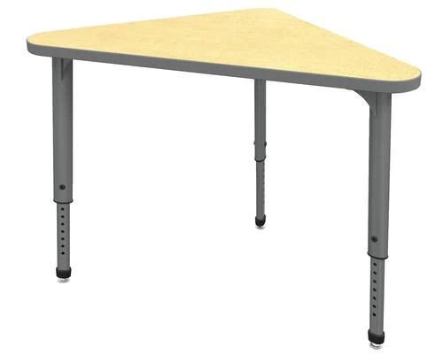 Apex       Series Height Adjustable Student Desk  Triangle  30  x 30  x     Apex       Series Height Adjustable Student Desk  Triangle  30  x 30  x 41