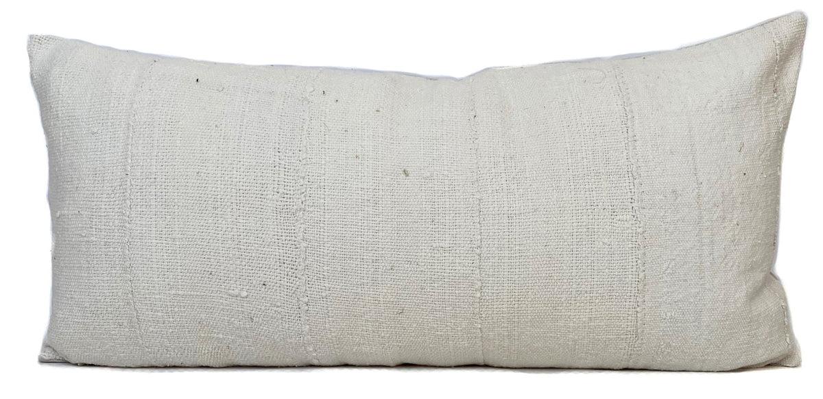 mudcloth pillow cover cream 12x24 no485