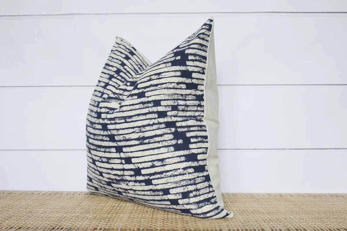 hmong batik pillow cover 22x22 no51