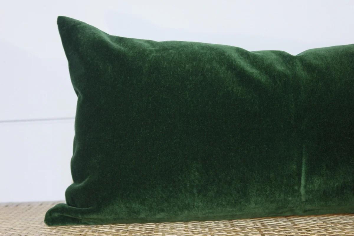 green velvet pillow velvet lumbar no454