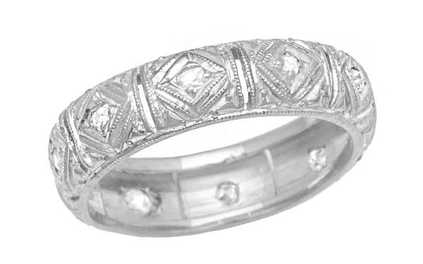 Art Deco Talcott Vintage Diamond Filigree Wedding Ring In