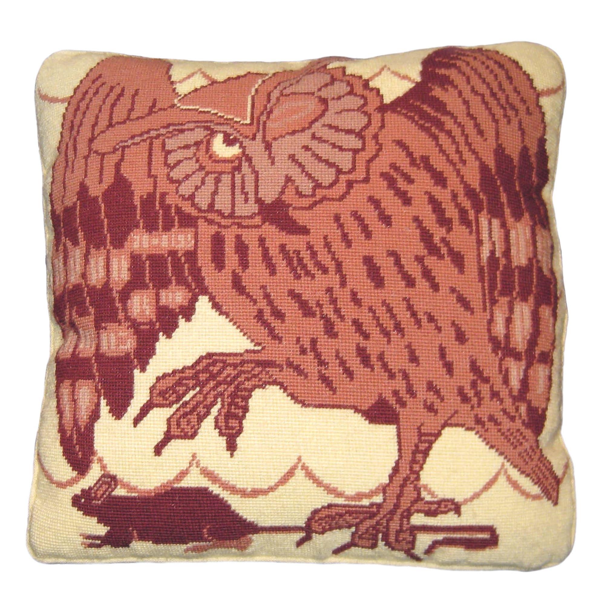 de morgan owl and mouse needlepoint cushion kit