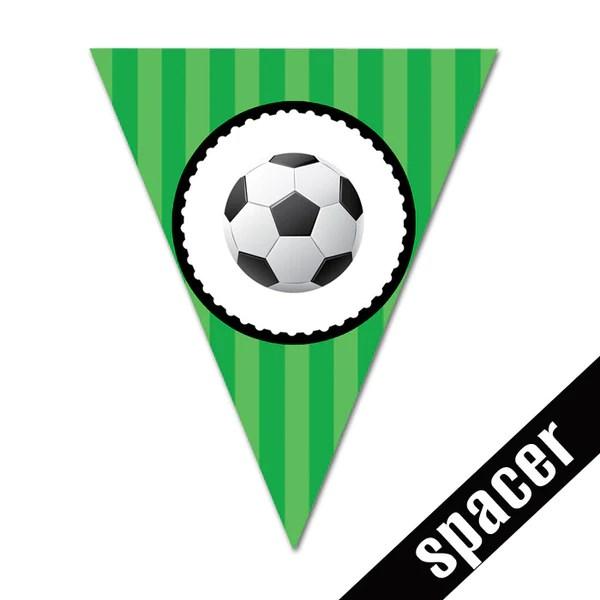 Soccer Happy Birthday Banner In Triangles MyPaperDot
