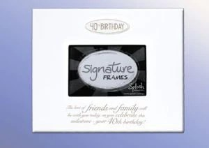 40th Birthday Splosh Signature 40 Number Block