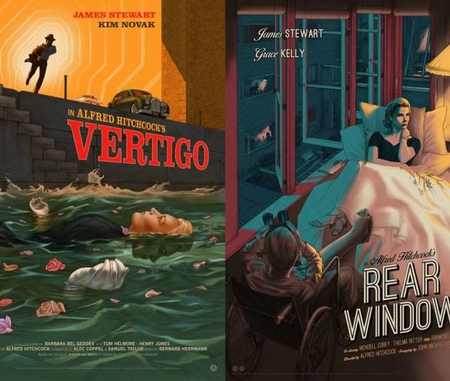 Vertigo Rear Window Matching Numbered Set Mad Duck Posters