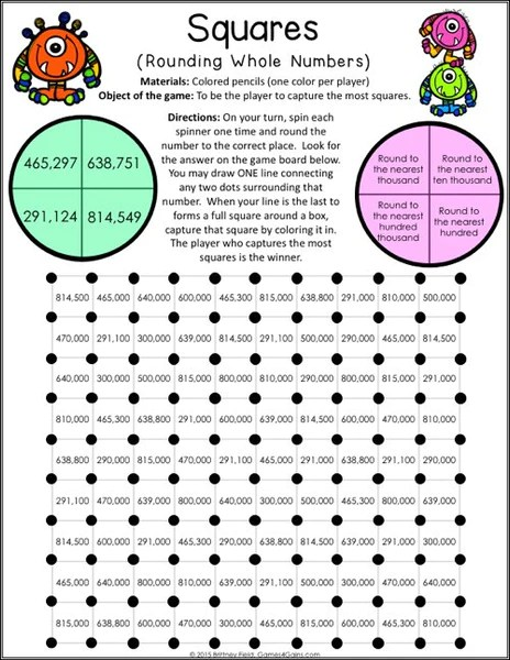 Value Grade 4th Printables Place