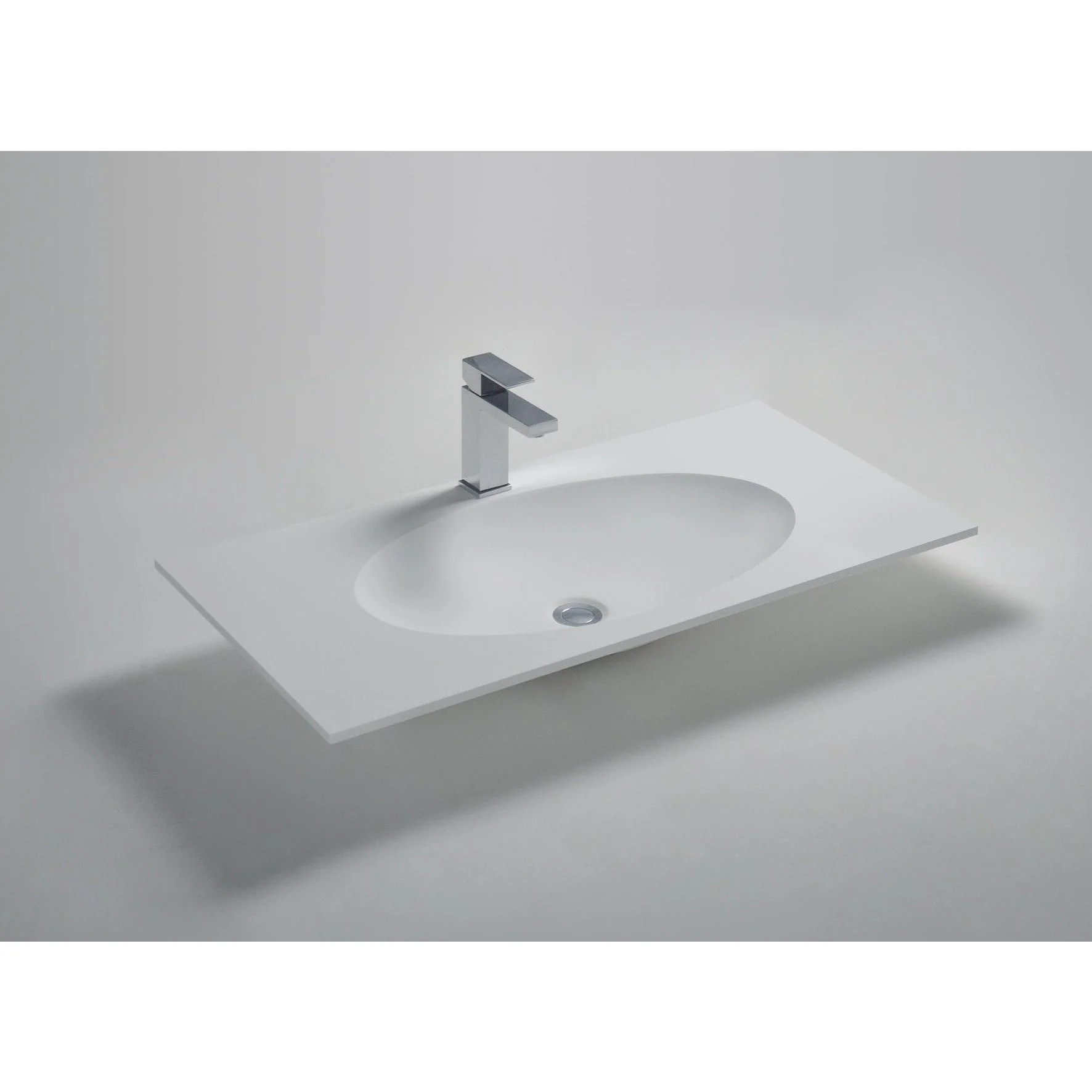 solidzelig 35 47 59 inches vanity countertop with 1 oval shape basins single sink