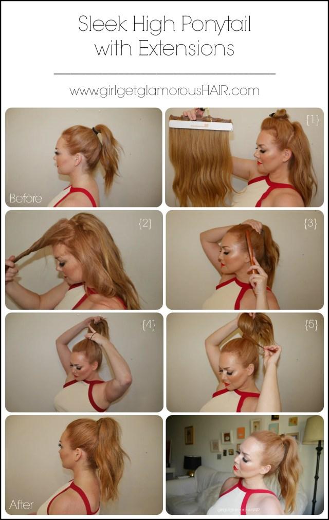 high ponytail hair tutorial | 2 styles | sleek + voluminous