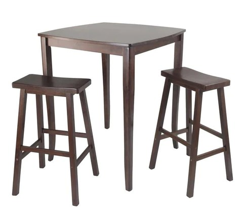 Winsome Wood 94380 3pc Inglewood HighPub Dining Table