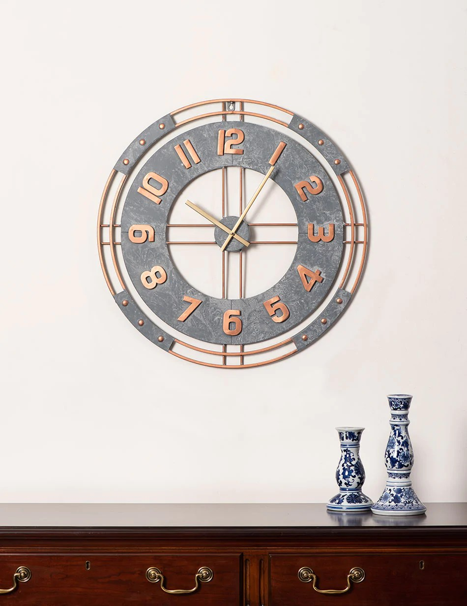 The Station Oversized Wall Clock Thedecorkart