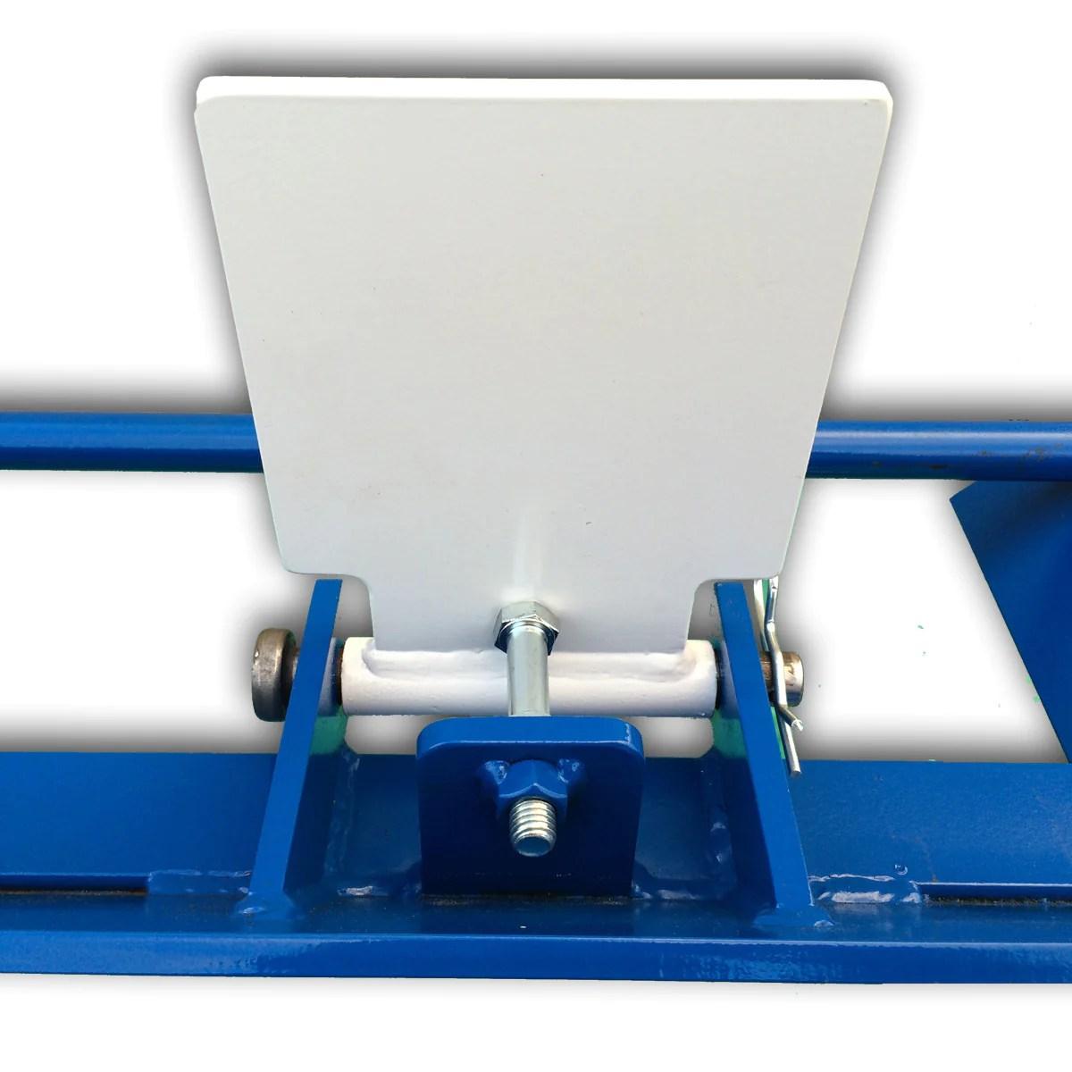 six target plate rack blue steel