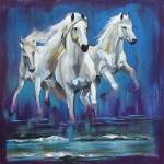 Running Horses Oil Painting Canvas Prints By Joel Jerry Buy Posters Frames Canvas Digital Art Prints Small Compact Medium And Large Variants