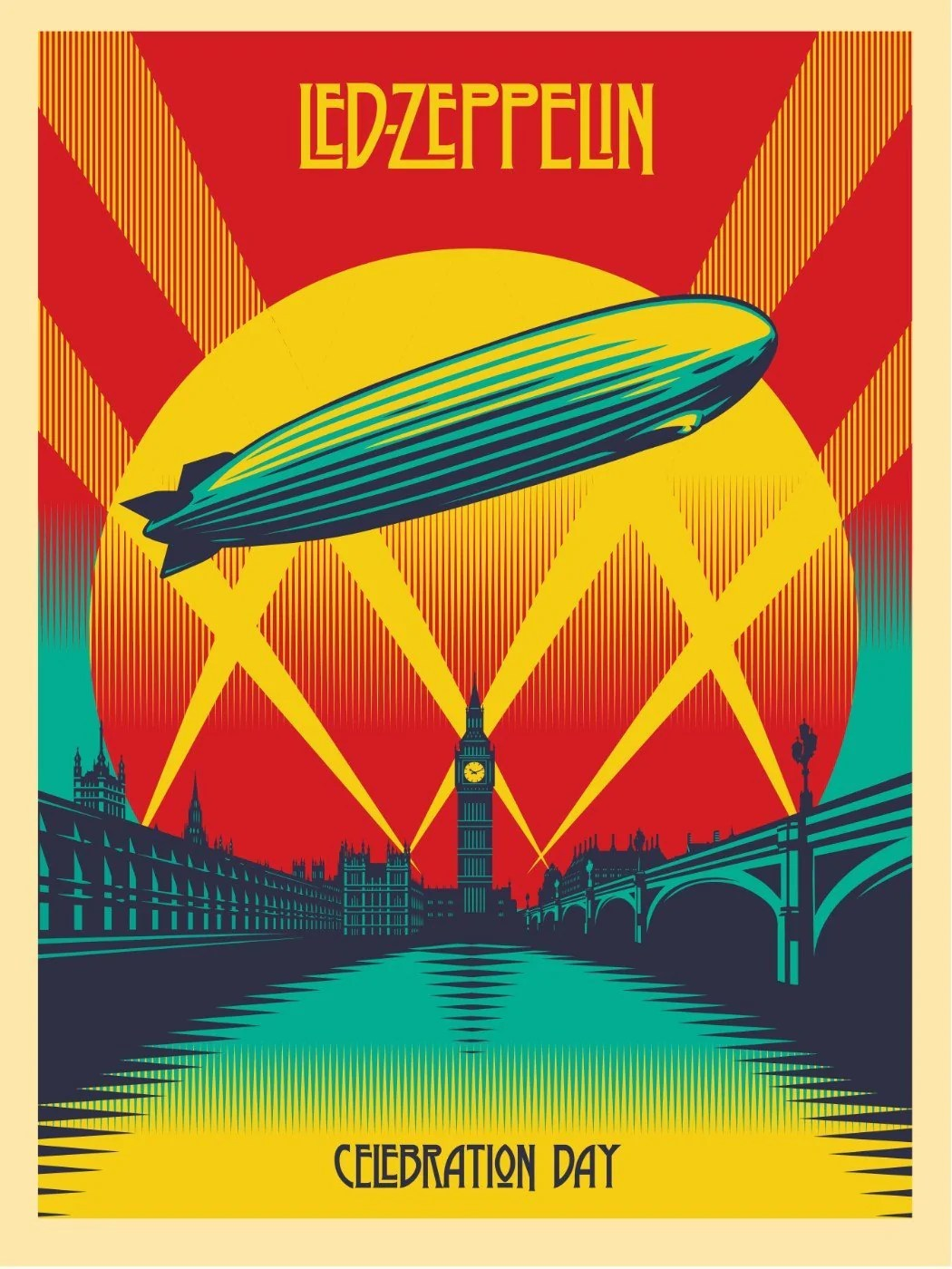 tallenge music collection music poster led zeppelin celebration day poster large art prints