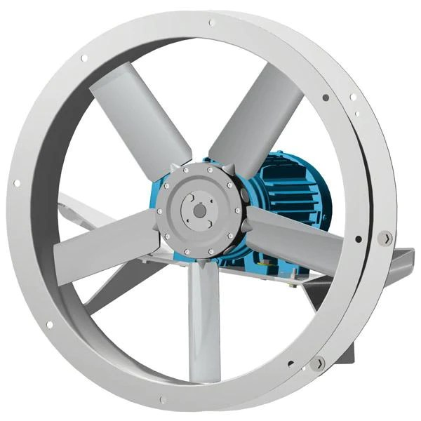 afk flange mounted fan 14 inch 2000 cfm 3 phase direct drive choose exhaust or supply