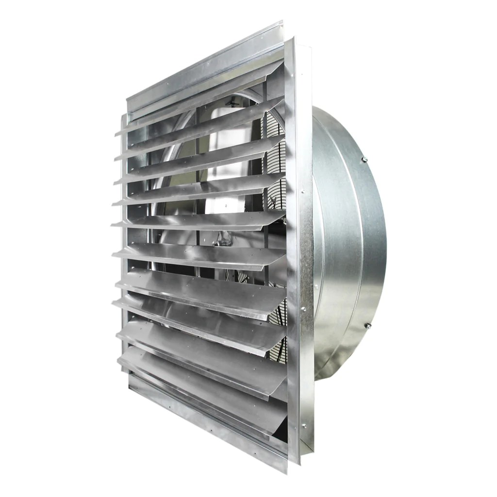 maxx air exhaust fan w shutters 1 speed 36 inch 9000 cfm direct drive multi pack discount if36