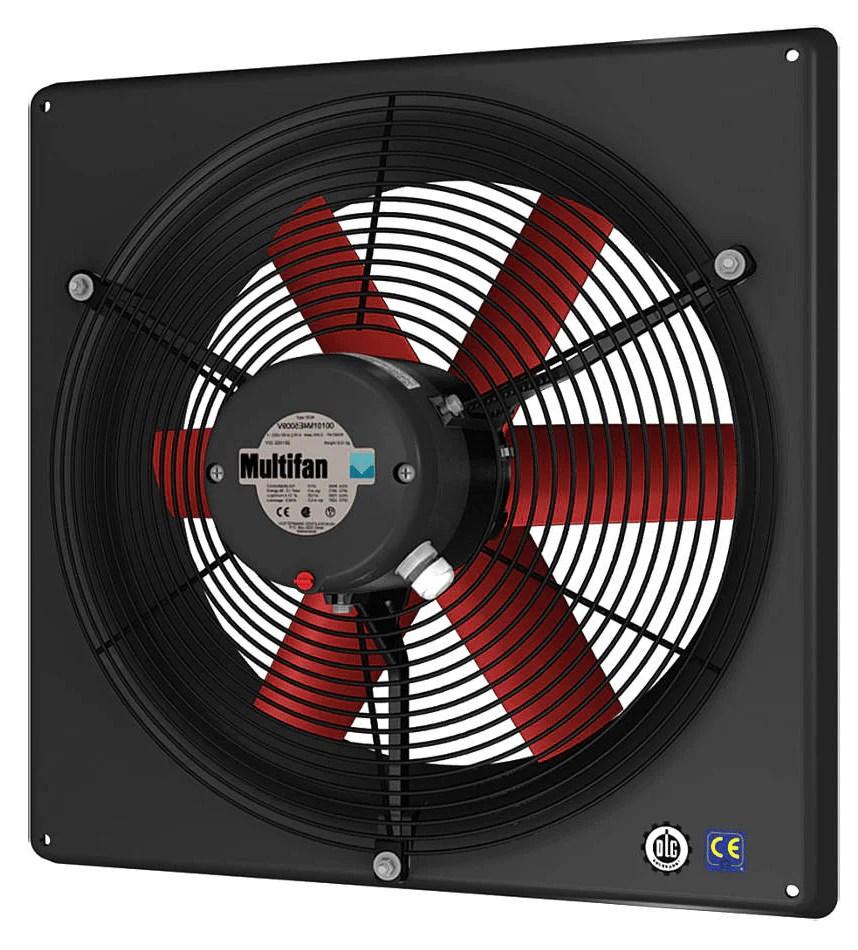 non corrosive panel exhaust fan 12 inch 1440 cfm 3 phase 240v 460v direct drive v4d30k1m71100