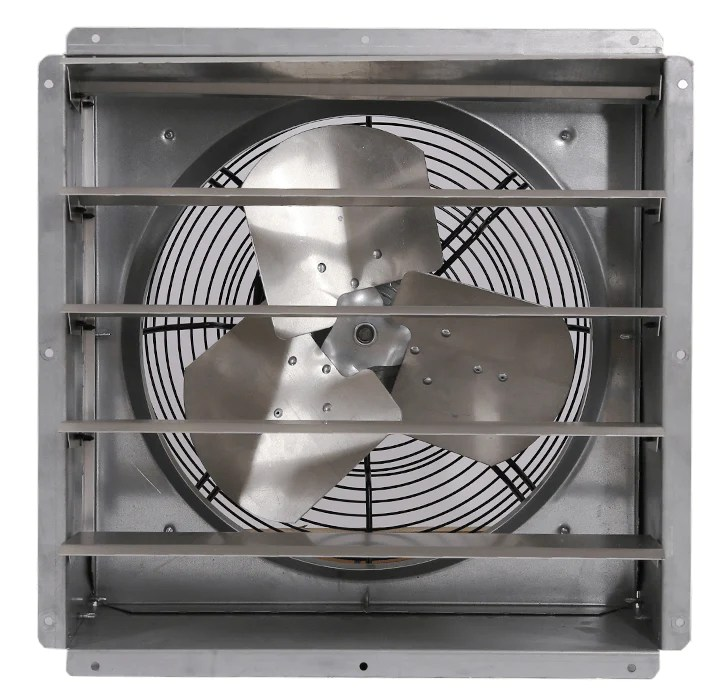gpx wall exhaust fan 1 speed 16 inch 2600 cfm direct drive gpx1611