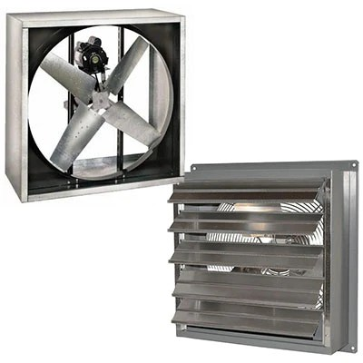 commercial garage exhaust vent fans