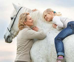 Horses helping people