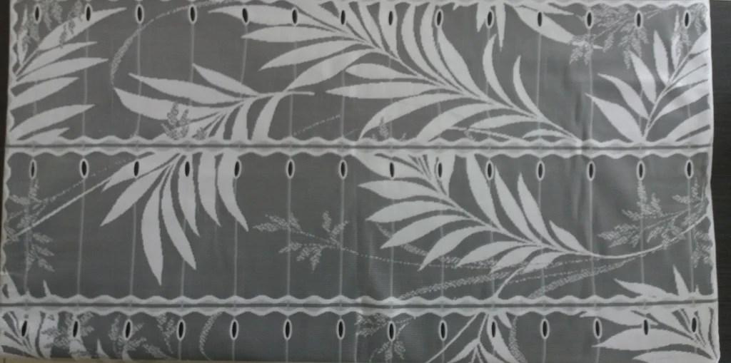 rideau voilage blanc 90 cm de largeur motif bambou modulable en hauteur