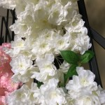 Artificial Cherry Blossom Hanging White Wedding Decoration Silk Fake Flower
