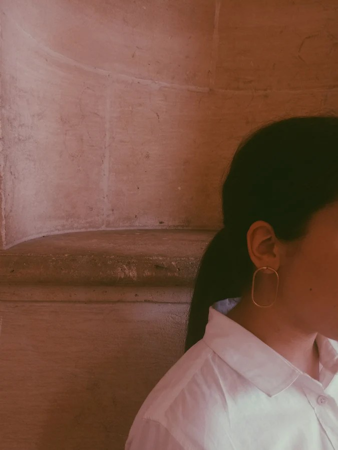 Selma with Adas Earrings for La Tangerine