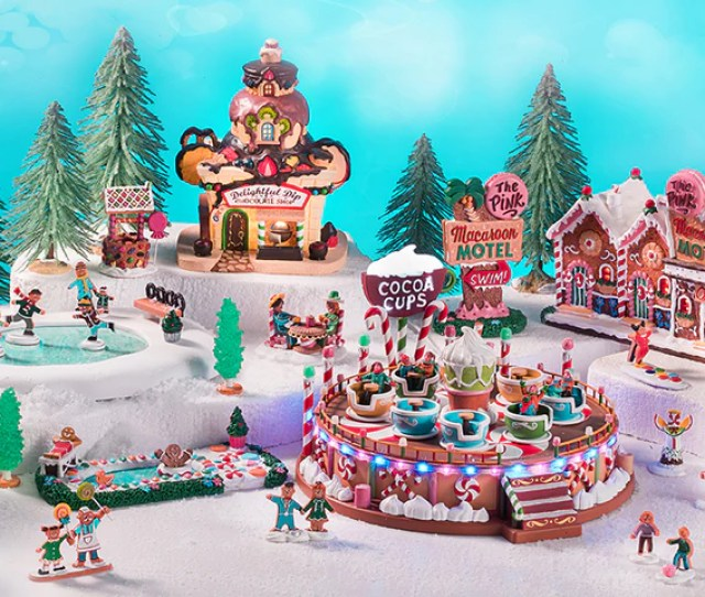 Making Its Comeback Debut The Candy Cane Lane Collection Featuring The Lemax Sugar N Spice Village Is A Delicious Way To Celebrate The Holidays