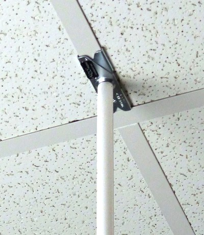 alzo suspended drop ceiling video projector mount with scissor clamp for t bar attachment