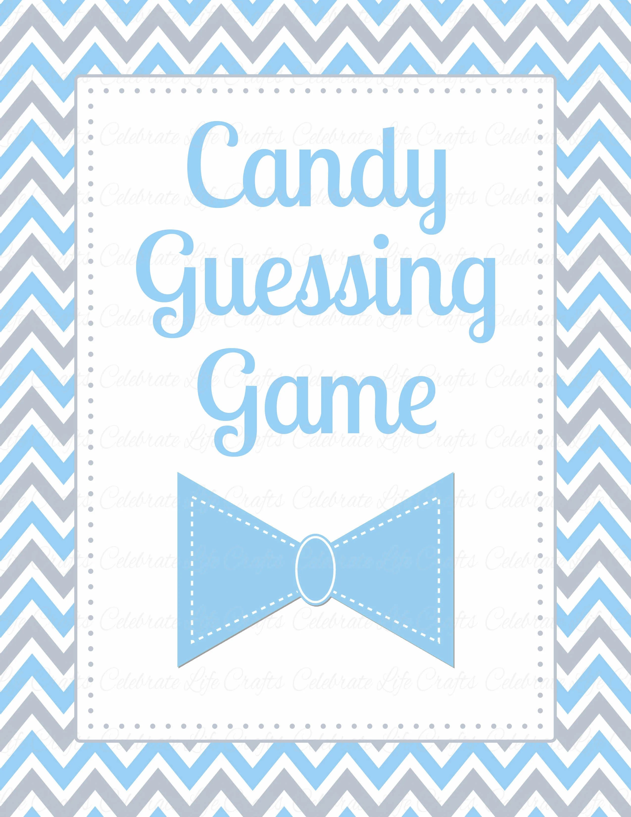 Candy Guess Baby Shower Game Little Man Baby Shower