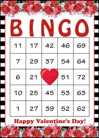 Valentine Bingo Game Download For Holiday Party Ideas
