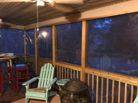 to enclose a porch with clear vinyl