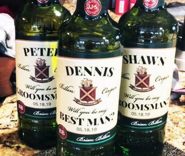 Custom Wedding Party Groomsman Whiskey Labels Best Man Groomsman Guy