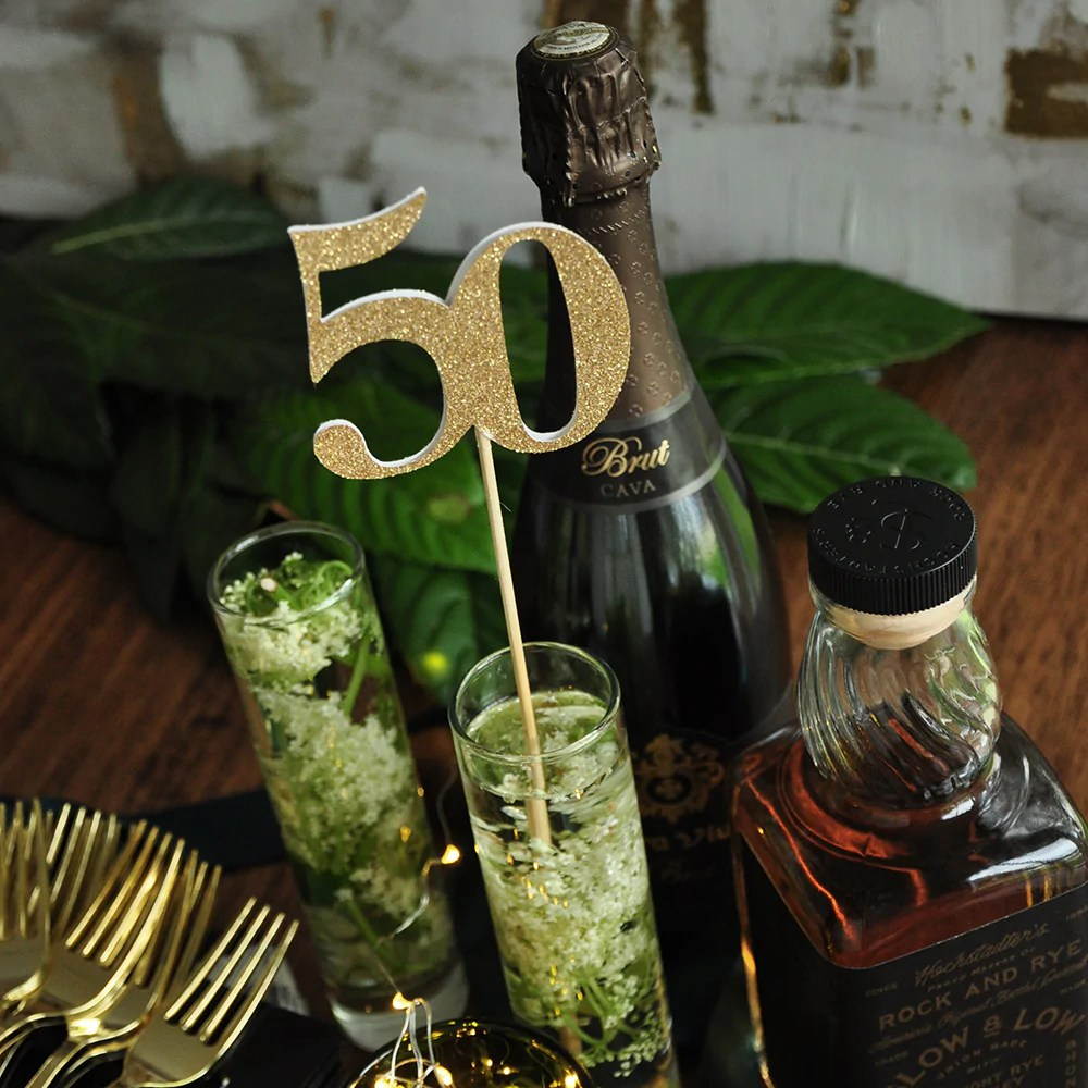 50th Birthday Party Centerpiece Set Of 5 Handcrafted In 1 3 Business Confetti Momma
