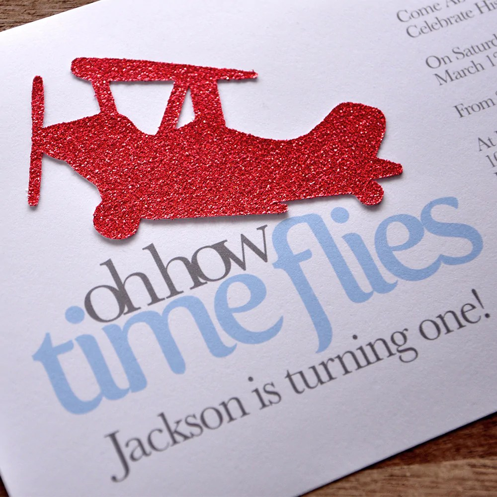 airplane 1st birthday invitations and envelopes we print cut glue and ship to you in 1 3 business days