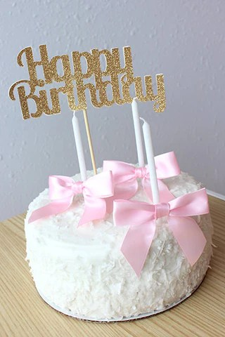 Glitter Happy Birthday Cake Topper Ships In 1 3 Business